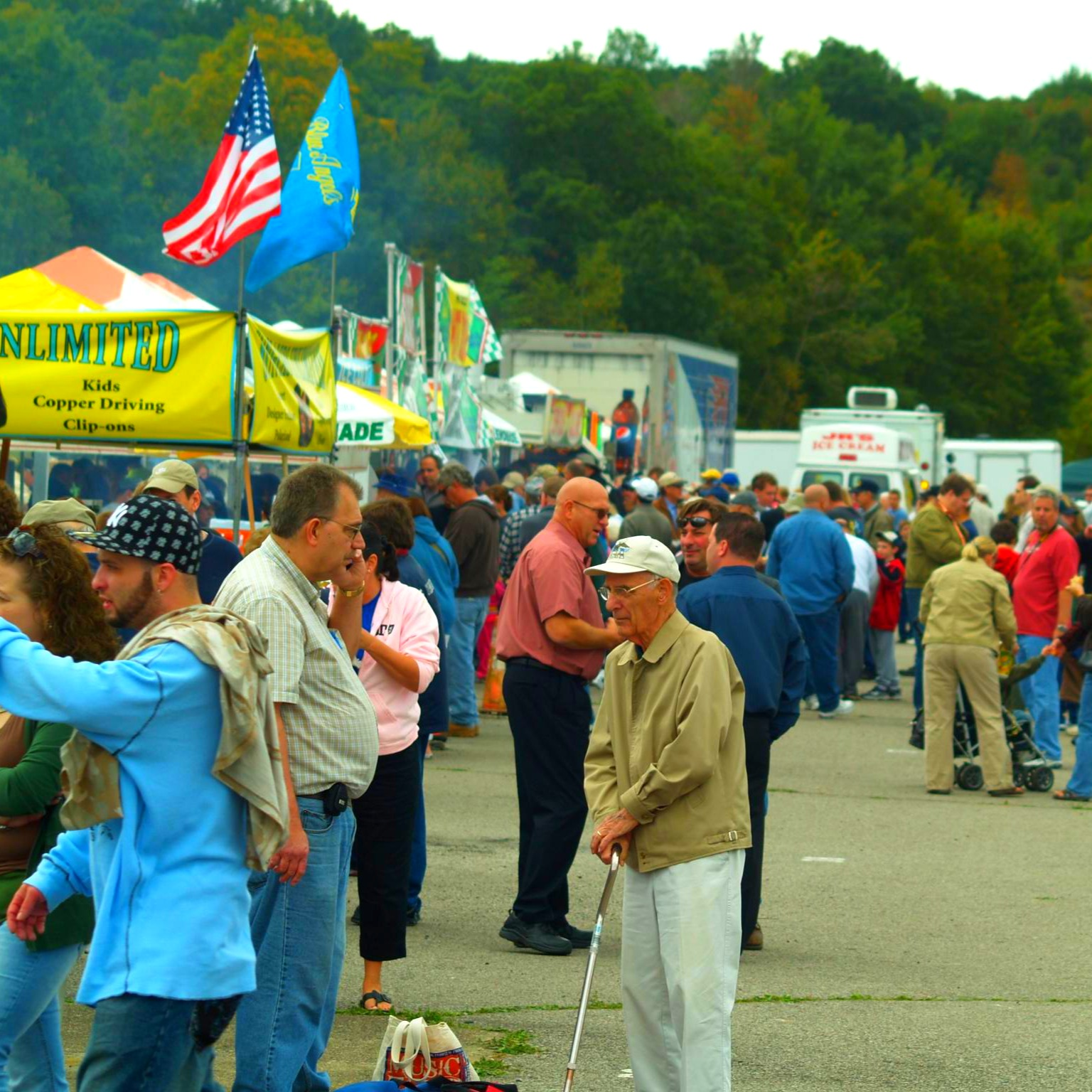 Vendors at Greenwood Lake Airshow